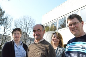 De gauche à droite - Patricia Perret - Philippe Racouët, Anne-Sophie Jegat et Pierre-Yves Brohan