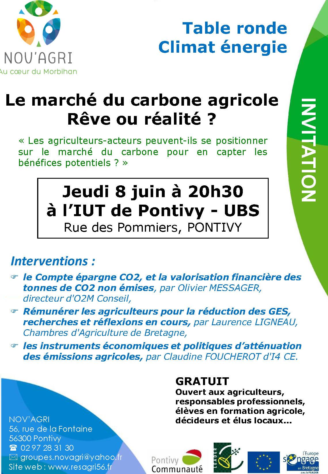 Table ronde Marché du carbone agricole